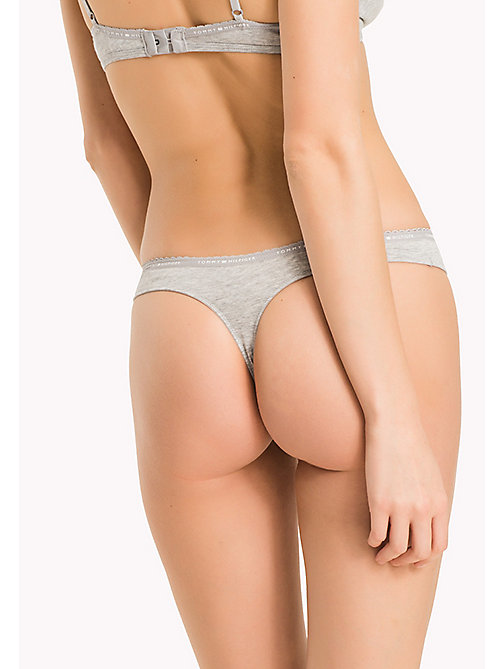 TOMMY HILFIGER THONG - GREY HEATHER - TOMMY HILFIGER Slips - detail image 1