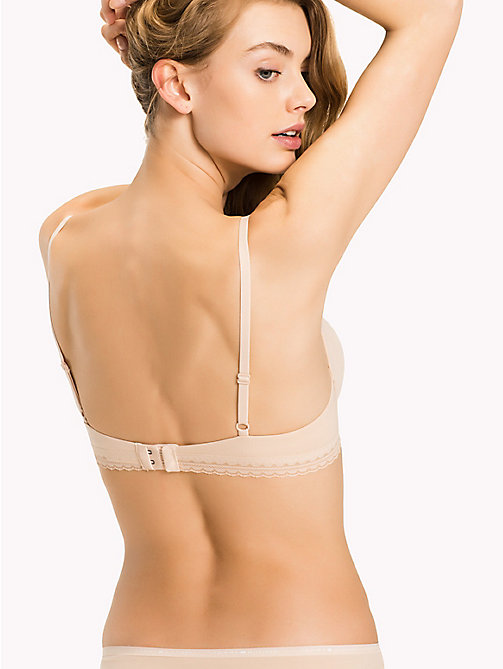 TOMMY HILFIGER Microfibre Regular Fit Push-Up Bra - NUDE - TOMMY HILFIGER Lingerie - detail image 1