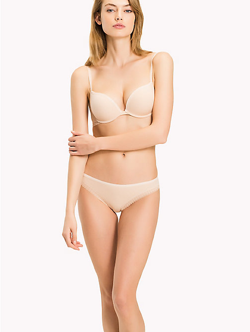 TOMMY HILFIGER Microfibre Regular Fit Push-Up Bra - NUDE - TOMMY HILFIGER Lingerie - main image