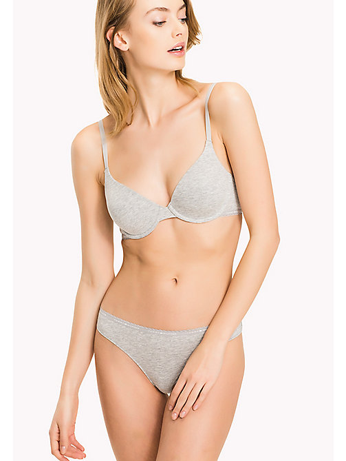 TOMMY HILFIGER T SHIRT BRA - GREY HEATHER - TOMMY HILFIGER Bras - main image