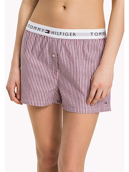 TOMMY HILFIGER WOVEN BOXER - WHITE - TOMMY HILFIGER Lounge & Nightwear - main image