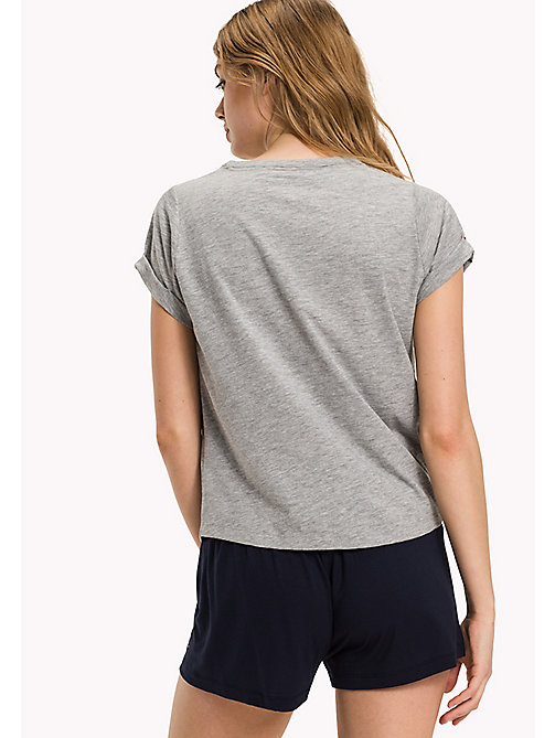 TOMMY HILFIGER SN TEE SS SLOGAN - GREY HEATHER - TOMMY HILFIGER Women - imagen detallada 1