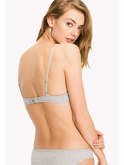 TOMMY HILFIGER Regular Fit Triangle Bra - GREY HEATHER - TOMMY HILFIGER Bras - detail image 1