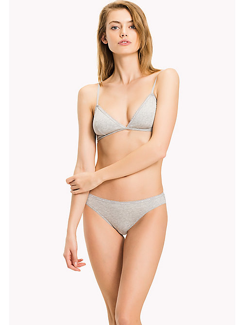 TOMMY HILFIGER TRIANGLE BRA - GREY HEATHER - TOMMY HILFIGER Bras - main image
