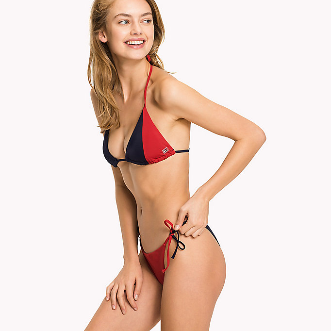 TOMMY HILFIGER Triangle Bikini Top - BRIGHT MARIGOLD - PINK GLO - TOMMY HILFIGER Clothing - detail image 2