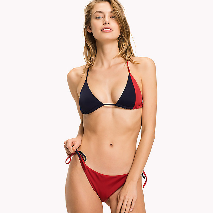 TOMMY HILFIGER Triangle Bikini Top - BRIGHT MARIGOLD - PINK GLO - TOMMY HILFIGER Clothing - main image