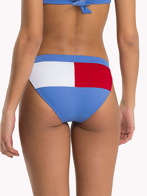 TOMMY HILFIGER Flag Bikini Bottoms - ULTRAMARINE BLUE - TANGO RED - TOMMY HILFIGER Underwear & Swimwear - detail image 1