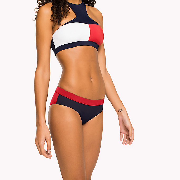 TOMMY HILFIGER Contrast Bikini Bottoms - BRIGHT MARIGOLD - PINK GLO - TOMMY HILFIGER Women - main image