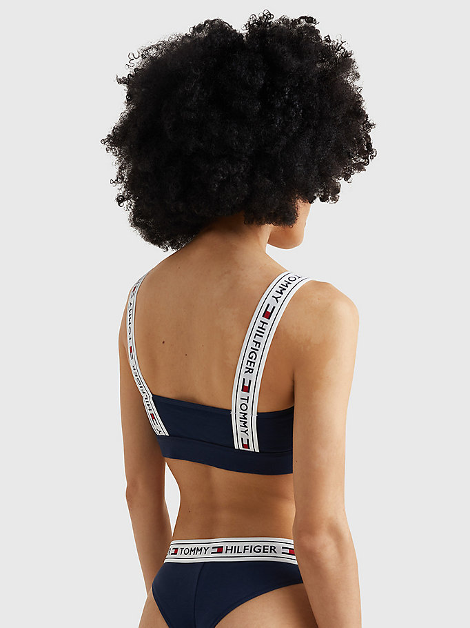 TOMMY HILFIGER Logo Strap Bralette - GREY HEATHER - TOMMY HILFIGER Women - detail image 2