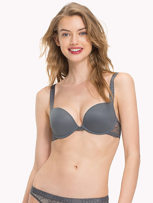TOMMY HILFIGER Lace Push-Up Bra - IRON GATE - TOMMY HILFIGER Bras - main image