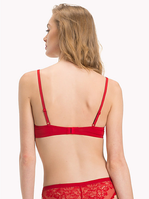 TOMMY HILFIGER Signature Lace Push-Up Bra - POMPEIAN RED - TOMMY HILFIGER Underwear & Swimwear - detail image 1