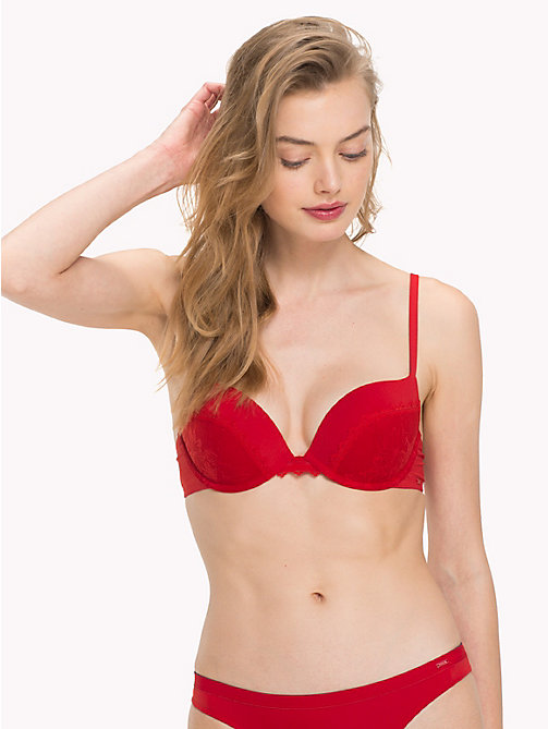 TOMMY HILFIGER Signature Lace Push-Up Bra - POMPEIAN RED - TOMMY HILFIGER Lounge & Lingerie - main image