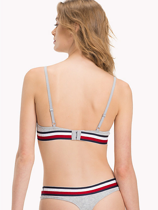 TOMMY HILFIGER Cotton T-Shirt Bra - GREY HEATHER - TOMMY HILFIGER Signature stripes - detail image 1