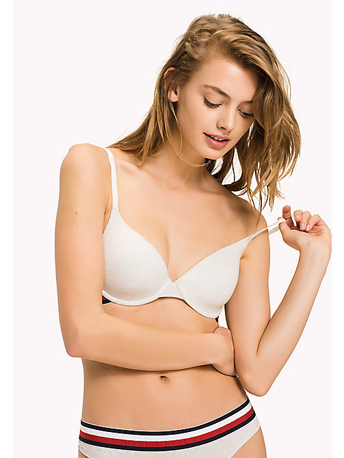 TOMMY HILFIGER Cotton T-Shirt Bra - IVORY HEATHER - TOMMY HILFIGER Bras - main image