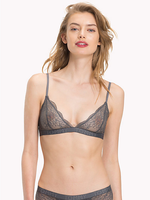 TOMMY HILFIGER Lace Triangle Bra - IRON GATE - TOMMY HILFIGER Bras - main image