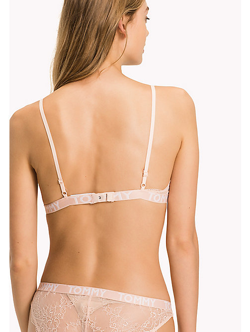 TOMMY HILFIGER Lace Triangle Bralette - PALE BLUSH - TOMMY HILFIGER Underwear & Swimwear - detail image 1