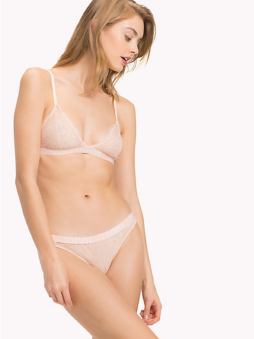 TOMMY HILFIGER Lace Triangle Bra - PALE BLUSH - TOMMY HILFIGER Bras - main image