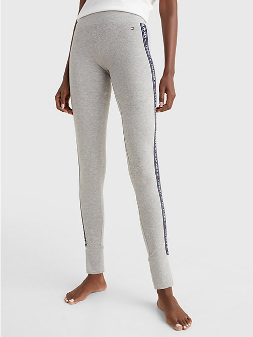 TOMMY HILFIGER Side Logo Leggings - GREY HEATHER - TOMMY HILFIGER Bottoms - main image