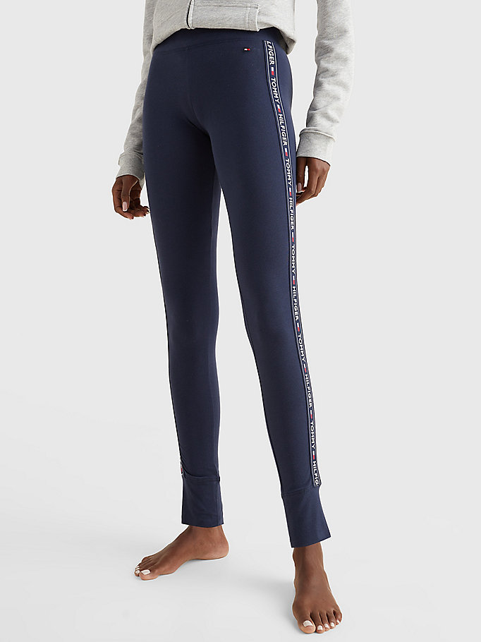 TOMMY HILFIGER Side Logo Leggings - GREY HEATHER - TOMMY HILFIGER Women - main image