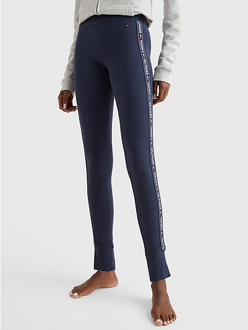 TOMMY HILFIGER Side Logo Leggings - NAVY BLAZER - TOMMY HILFIGER Basics - main image