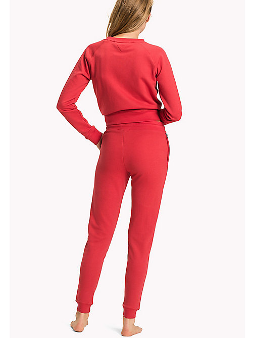 TOMMY HILFIGER Cotton Terry Sweatpants - TANGO RED - TOMMY HILFIGER Bas De Pyjamas - image détaillée 1