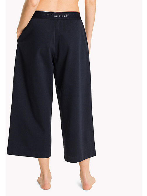 TOMMY HILFIGER Jersey Culotte Trousers - NAVY BLAZER - TOMMY HILFIGER Women - detail image 1