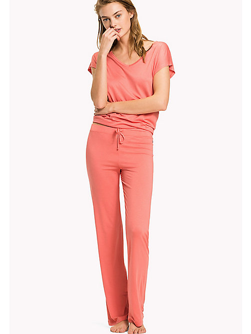 TOMMY HILFIGER Modal Pyjama Trousers - SPICED CORAL - TOMMY HILFIGER Bottoms - main image