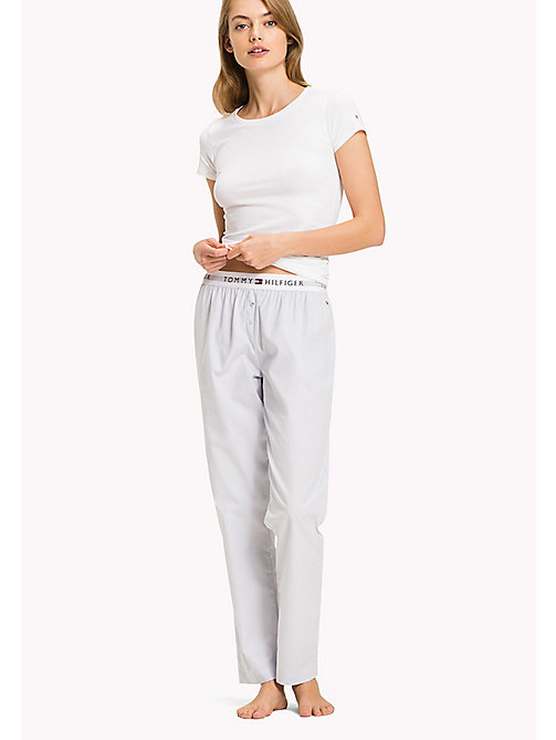 TOMMY HILFIGER Woven Cotton Pyjama Trousers - CHAMBRAY BLUE - TOMMY HILFIGER Sale Women - main image