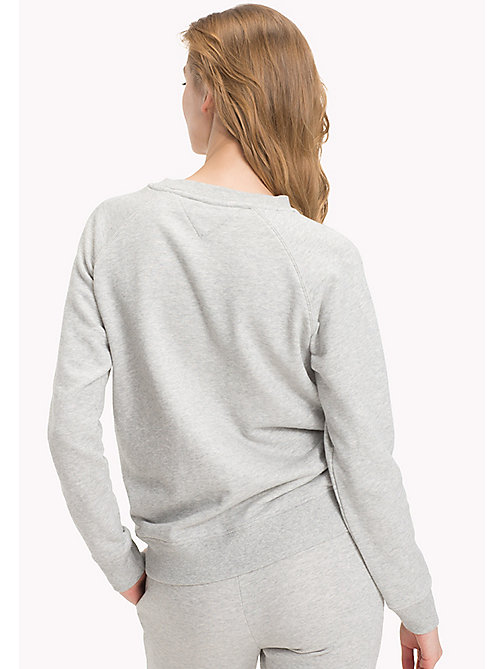 TOMMY HILFIGER Crew Neck Cotton Sweatshirt - GREY HEATHER - TOMMY HILFIGER Tops - imagen detallada 1