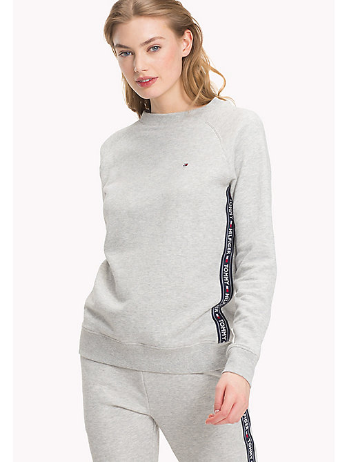 TOMMY HILFIGER Crew Neck Cotton Sweatshirt - GREY HEATHER - TOMMY HILFIGER Tops - imagen principal