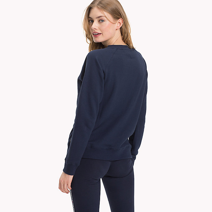 TOMMY HILFIGER Crew Neck Cotton Sweatshirt - GREY HEATHER - TOMMY HILFIGER Women - detail image 1