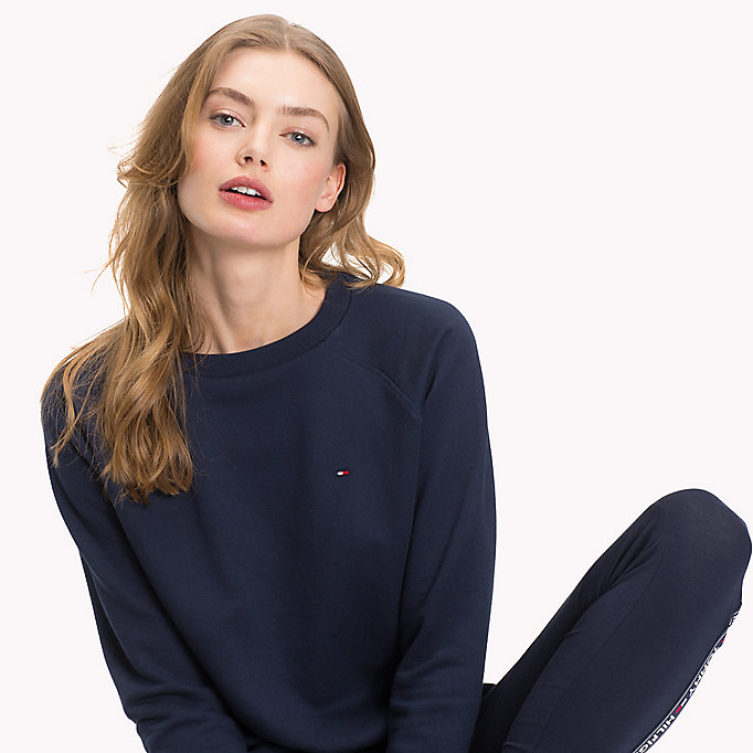 TOMMY HILFIGER Crew Neck Cotton Sweatshirt - GREY HEATHER - TOMMY HILFIGER Women - detail image 2