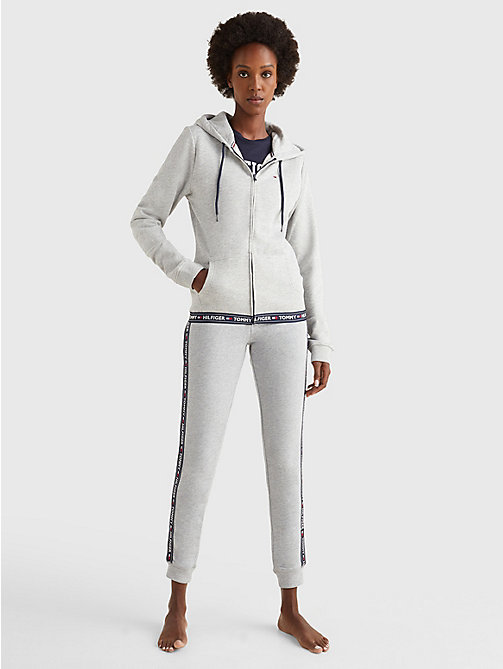 TOMMY HILFIGER Cotton Terry Lounge Hoody - GREY HEATHER - TOMMY HILFIGER Tops - detail image 1