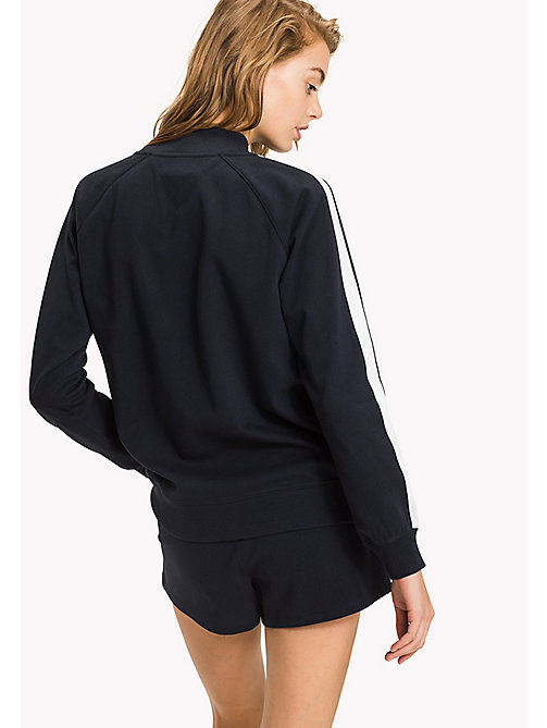 TOMMY HILFIGER High Neck Jersey Sweatshirt - NAVY BLAZER - TOMMY HILFIGER Tops - detail image 1