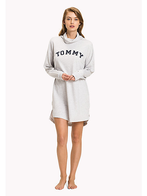 TOMMY HILFIGER Cotton Night Dress - WHITE HEATHER BC01 - TOMMY HILFIGER Black Friday Women - main image
