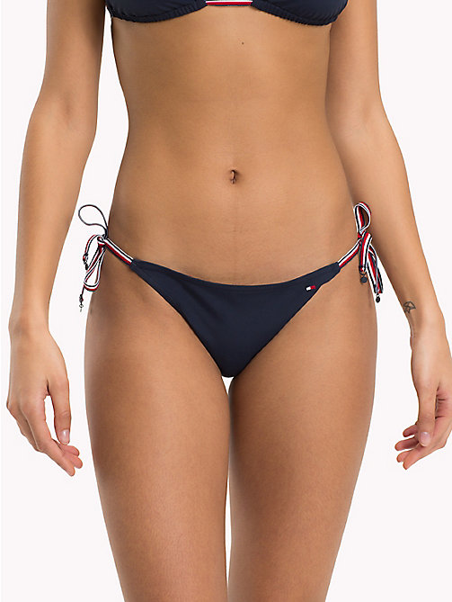 TOMMY HILFIGER Signature Side Tie Bikini Bottoms - NAVY BLAZER - TOMMY HILFIGER Underwear & Swimwear - main image