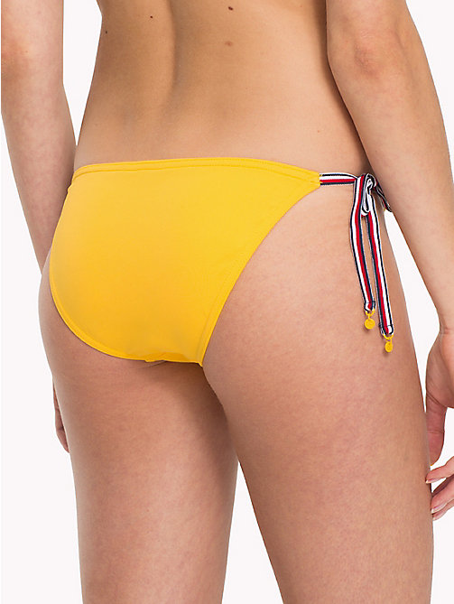 TOMMY HILFIGER Signature Side Tie Bikini Bottoms - SPECTRA YELLOW - TOMMY HILFIGER Underwear & Swimwear - detail image 1