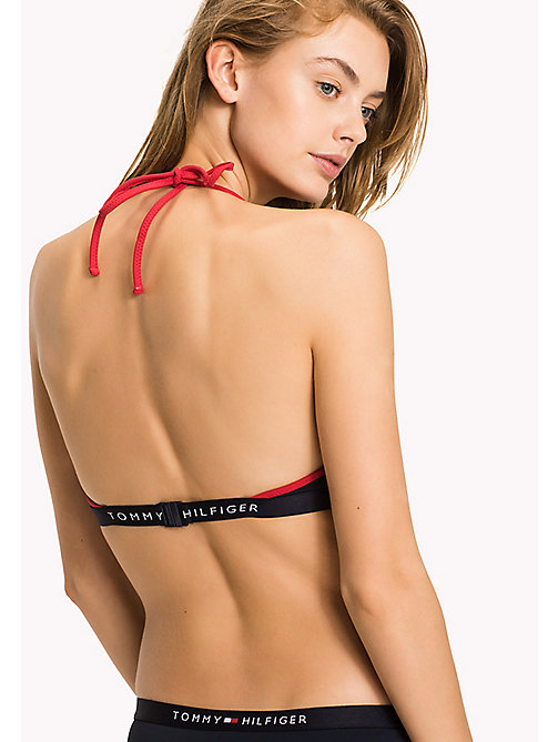 TOMMY HILFIGER Halterneck Triangle Bikini Top - NAVY BLAZER - TOMMY HILFIGER VACATION FOR HER - detail image 1