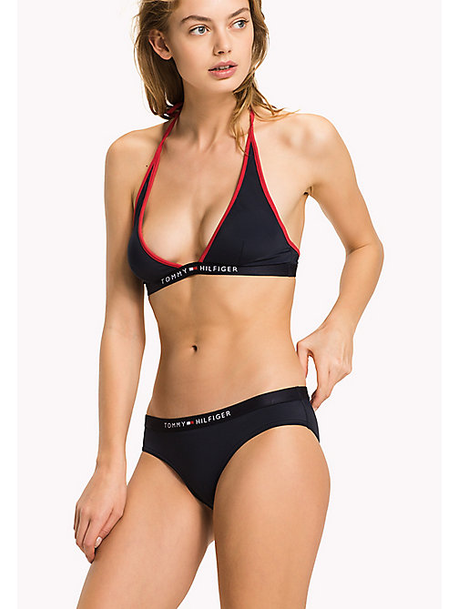 TOMMY HILFIGER Halterneck Triangle Bikini Top - NAVY BLAZER - TOMMY HILFIGER VACATION FOR HER - main image