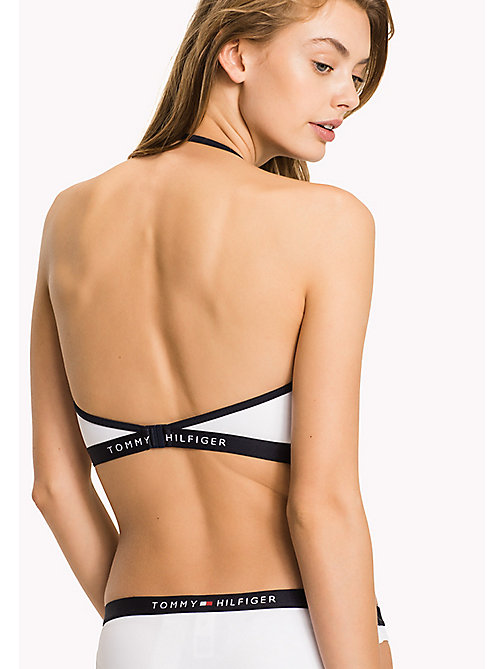 TOMMY HILFIGER Logo Bandeau Bikini Top - BRIGHT WHITE - TOMMY HILFIGER VACATION FOR HER - detail image 1