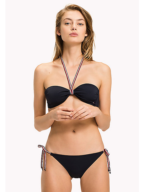 TOMMY HILFIGER Signature Bandeau Bikini Top - NAVY BLAZER - TOMMY HILFIGER VACATION FOR HER - main image