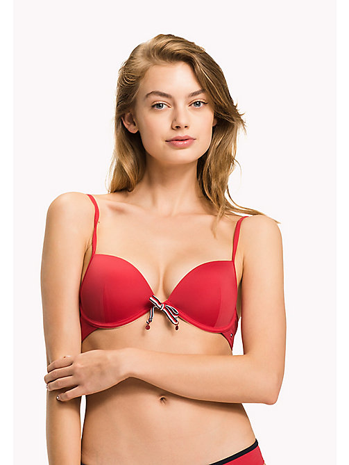 TOMMY HILFIGER Push Up Bikini Top - TANGO RED - TOMMY HILFIGER Underwear & Swimwear - main image