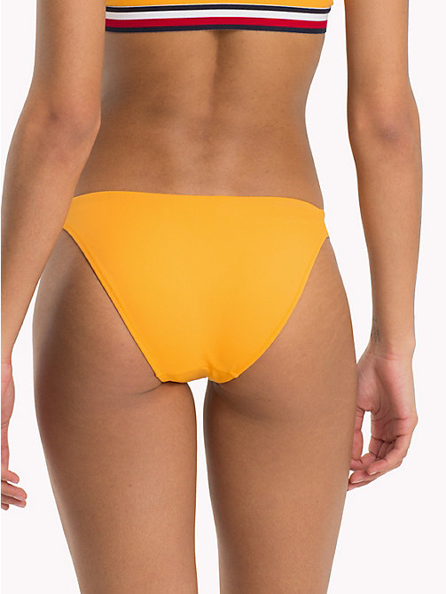 TOMMY HILFIGER Signature Side Bikini Bottoms - CADMIUM YELLOW - TOMMY HILFIGER Swimwear - detail image 1