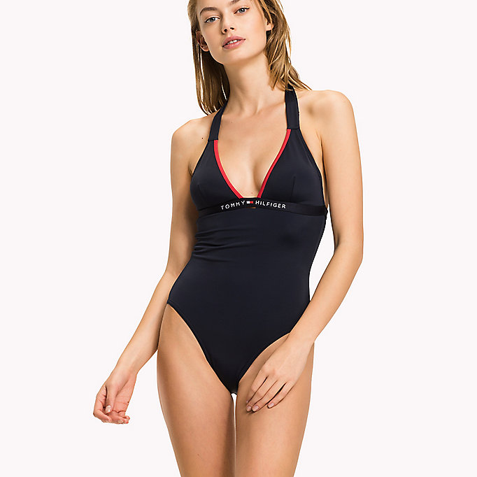 TOMMY HILFIGER Halterneck Swimsuit - TANGO RED - TOMMY HILFIGER Women - main image