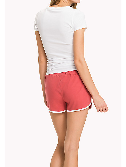 TOMMY HILFIGER Cotton Drawstring Lounge Shorts - AMERICAN BEAUTY - TOMMY HILFIGER Bottoms - detail image 1