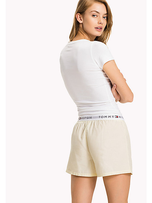 TOMMY HILFIGER Woven Cotton Lounge Boxers - YELLOW CREAM - TOMMY HILFIGER Tommy Days Women - detail image 1