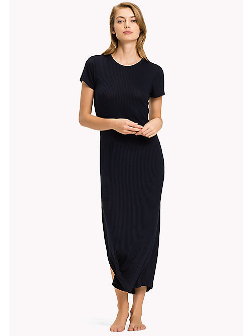TOMMY HILFIGER Long Lounge Nightdress - NAVY BLAZER - TOMMY HILFIGER Night Dresses & Bathrobes - main image