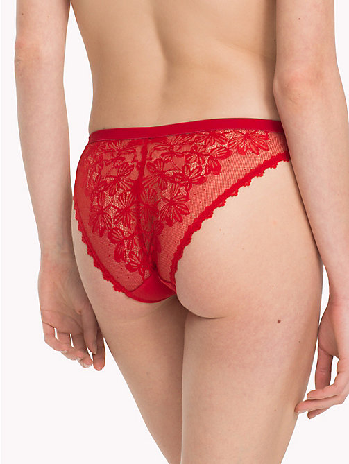 TOMMY HILFIGER Lace Back Bikini Briefs - POMPEIAN RED - TOMMY HILFIGER Lounge & Lingerie - detail image 1