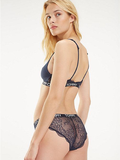 TOMMY HILFIGER Scalloped Lace Bikini Knickers - NAVY BLAZER - TOMMY HILFIGER Briefs - main image