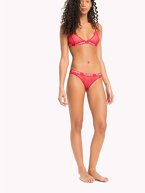 TOMMY HILFIGER Embroidered Lace Bikini Briefs - TEABERRY - TOMMY HILFIGER Briefs - main image